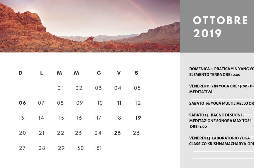 eventi speciali oltre alle lezioni settimanali ottobre-dicembre 2019