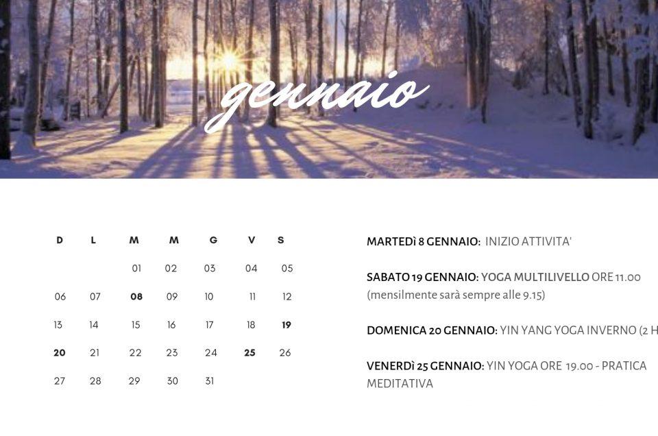 Calendario eventi speciali gennaio-marzo 2019
